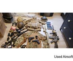 Massive job lot rifle vests scopes sniper