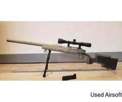Spring powered sniper