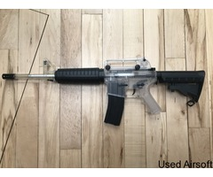 Two-tone spring-powered M4 with 500rd mag