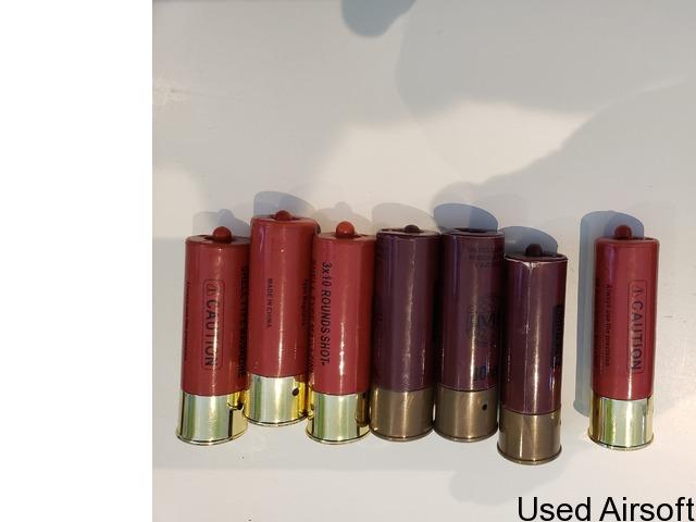 Pump action single barrel shotgun gas plus 7 shells - 1
