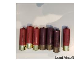 Pump action single barrel shotgun gas plus 7 shells