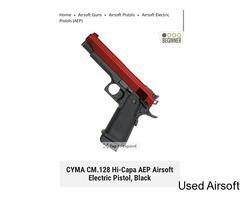 CYMA CM. 128 HI CAPA AEP TWO TONE RED AND BLACK