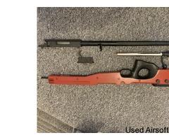 L115A3, bolt, trigger, barrel and stock