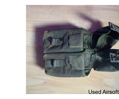 British Army Double Magazine Pouch (Used In Action)