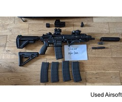 Upgraded VFC HK416D Package with 5 mags, carry bag and extras