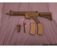 ARES M4 CQB + 2 MAGS + 1450 LIPO