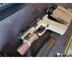 ICS BLE Pistol w/ Torch, Holster & 2 Magazines