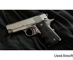 Tokyo marui v10 silver gbb pistol