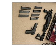 TOKYO MARUI P226 E2 with CAA RONI Pistol Conversion Kit