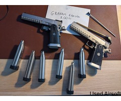 WA SV Infinity pistols - Silver ( x2 ) with 2 locking cases and 6 mags - Image 3
