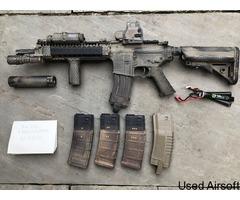 G&P Daniel Defense MK18 AEG with Extras.