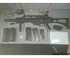 JG G36c with dummy silencer, foregrip and more