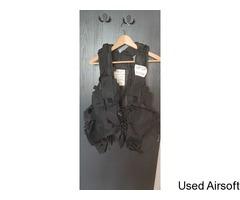 Backpack Vest Tactical Load Bearing Black