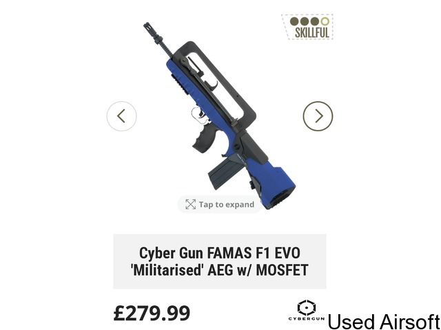 Brand new cybergun evo f1 famas with Mosfet, - 4
