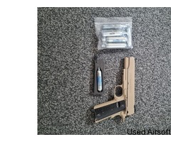 Tanned Colt 1911 gas blowback