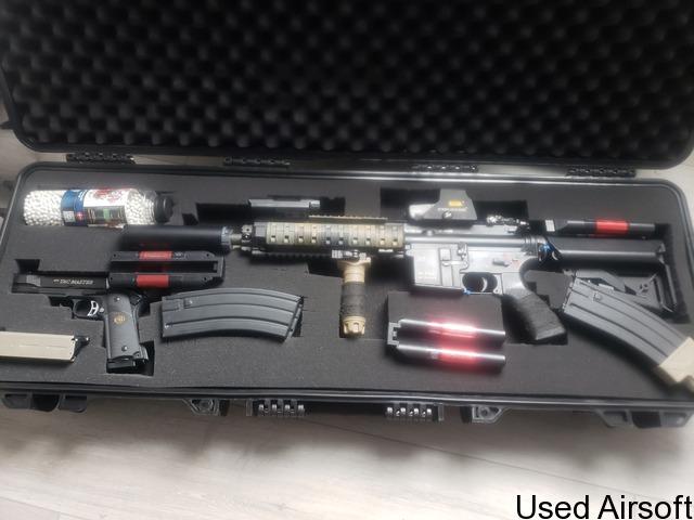 Tokyo marui m4 recoil 416D n 1911 starter bundle - 1