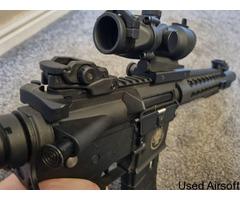 Barely used Saigo defense AEG W/ bag, mag and new acog sight