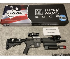 Specna Arms SA-EO2-Gray - Like new, boxed with upgrades