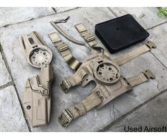 Radar 1957 Glock Holster with belt attachment and Tilupperware box case