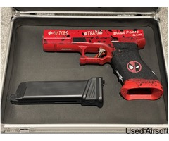 LIMITED EDITION CUSTOM DEADPOOL GLOCK GBB PISTOL *FOR SALE OR OPEN TO TRADES*