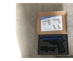 Pistol gas blowback