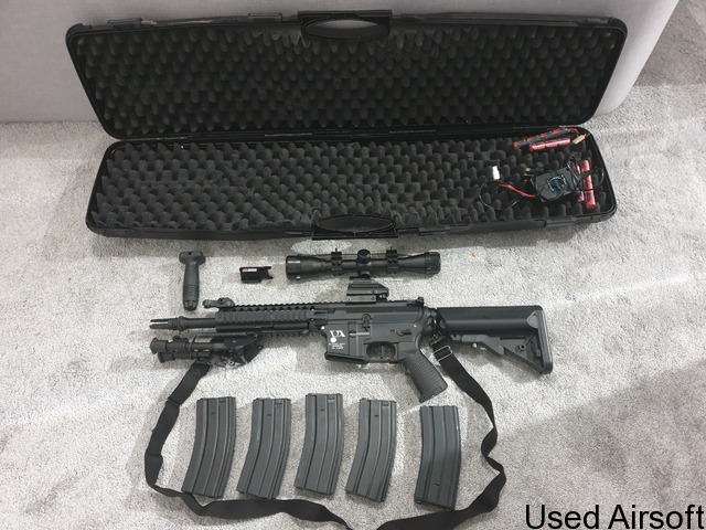 Classic Army Rifle (Mod M4) & Raven pistol set with red dot sight, scope, laser, bipod and more - 2