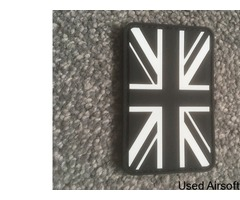 Airsoft Union Jack patch black and white