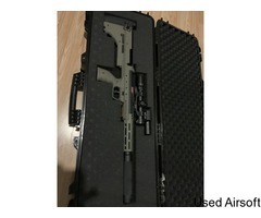 Upgraded Silverback SRS A2 Sport . Wasp Piston, Fast Hop, Lambada Barrel, Scope and 3 Mags included