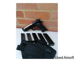 ASG/KJ Beretta 92 Tactical + 5 mags + holster