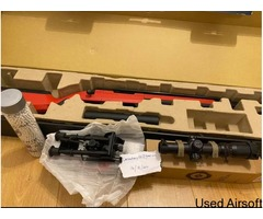 [STILL WITH BOX] Ares Amoeba Striker Sniper AS01-DE Bundle with Silencer, bipod, 4x Scope, Bullets
